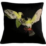 Birds and The Beetles 2 Cushion ~ Green