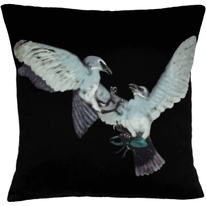 Birds and The Beetles 2 Cushion ~ Fantasy Blue