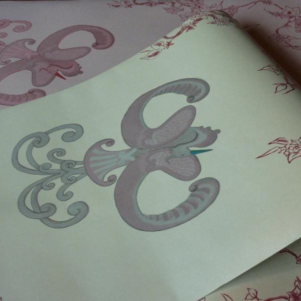 Chinoiserie Bird Wallpaper ~ Jade