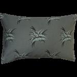 Night Flowers Fern Cushion Boudoir size - Grey