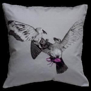 Birds and The Beetles 2 Cushion ~ Magenta