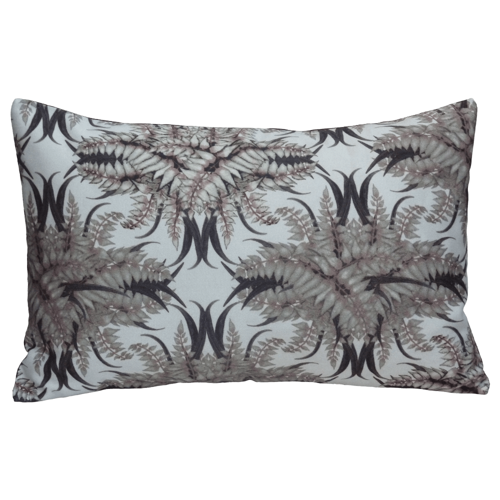 Fern forest Cushion Boudoir Size - Bone