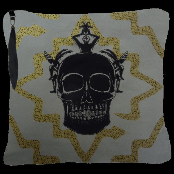 Juju Ceremony Cushion - Grey Gold