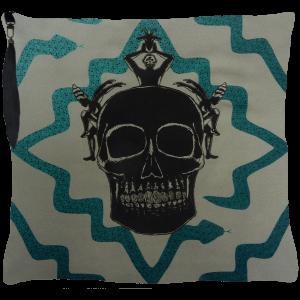 Juju Ceremony Cushion - Grey Blue