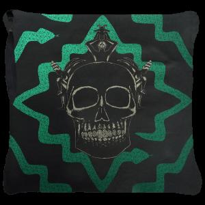 Juju Ceremony Cushion - Green Black