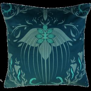 Damask Of Satan Cushion ~ in Blue Murder