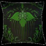Damask Of Satan Cushion ~ in POISON GREEN