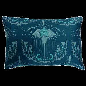 Damask Of Satan Cushion Boudoir Size ~ in BLUE MURDER