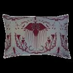 Damask Of Satan Cushion Boudoir Size~ in REDRUM