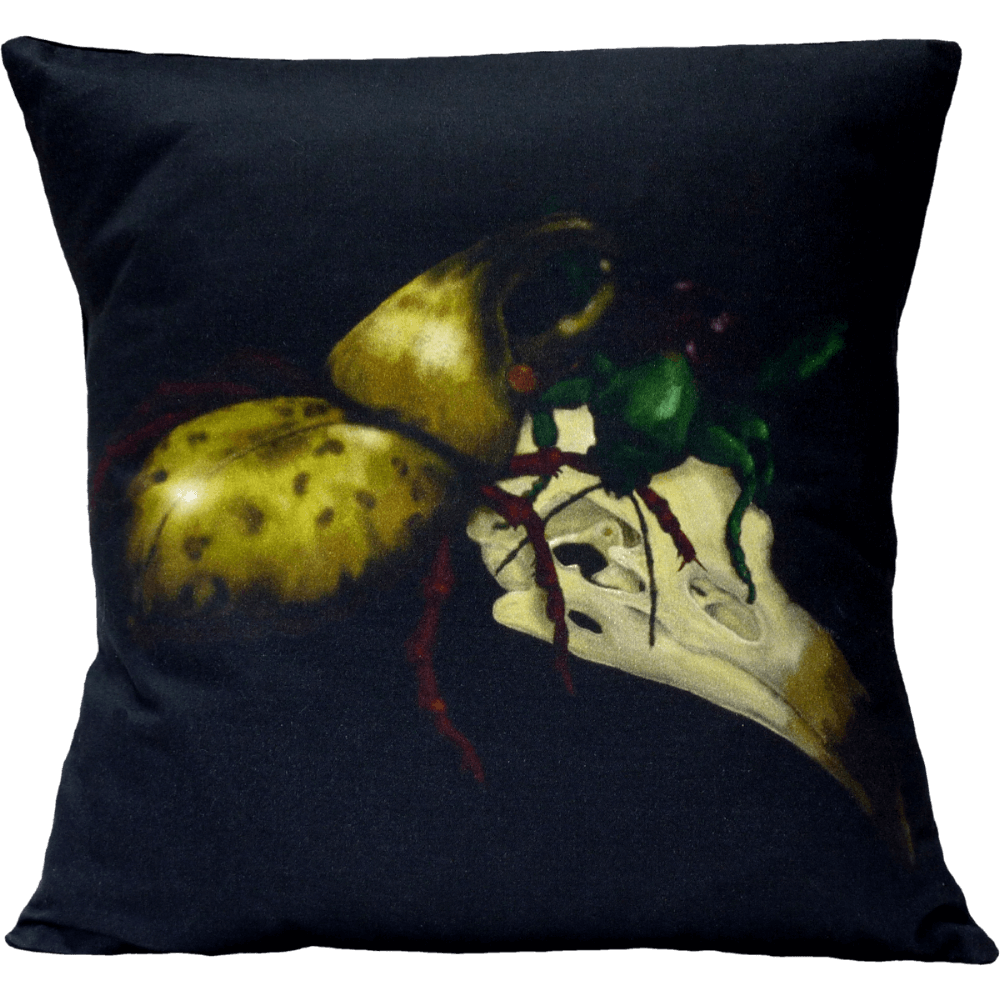 The Birds and the Beetles 1 Cushion