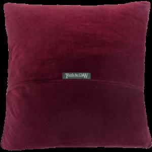 Reverse Of Cushion - Wine velvet