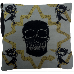 Juju Snake Priest Cushion- Grey Gold