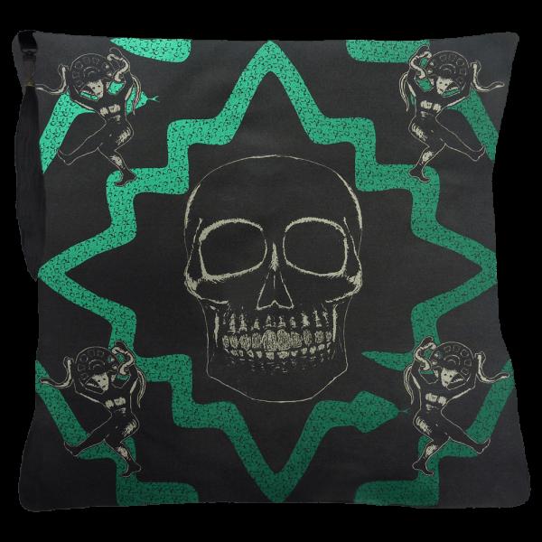Juju Snake Priest cushion - Green Black