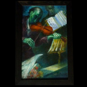 Abstract Painting of Jazz Musicians