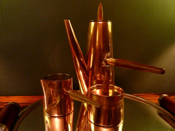 1960s Copper Coffee set made by Argy