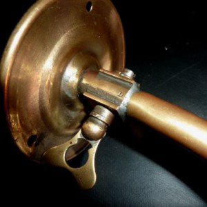 Converted Industrial Brass Gas Lamp