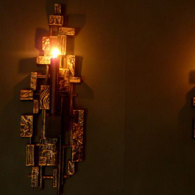 Mid-Century Brutalist candle holder