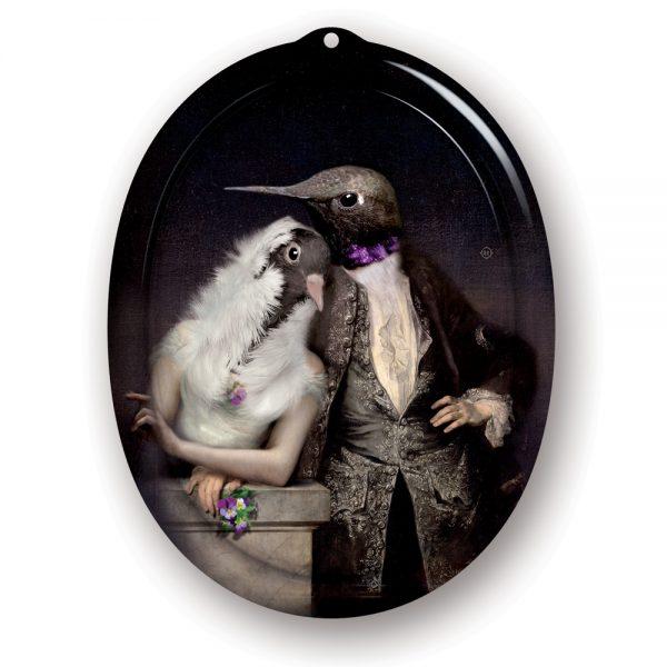 Ibride Galerie De Portraits Oval Tray Lovebirds