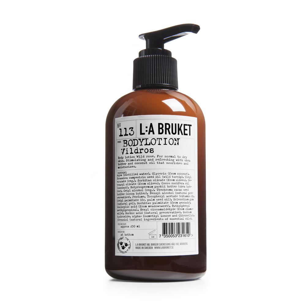 LA Bruket Body Lotion Wild Rose
