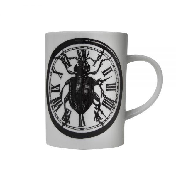 Rory Dobner Beetle clock mug