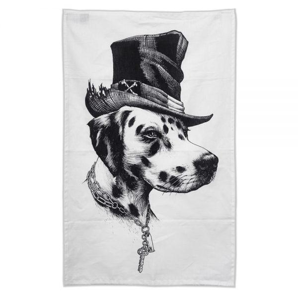Rory Dobner Brooklyn dog tea towel