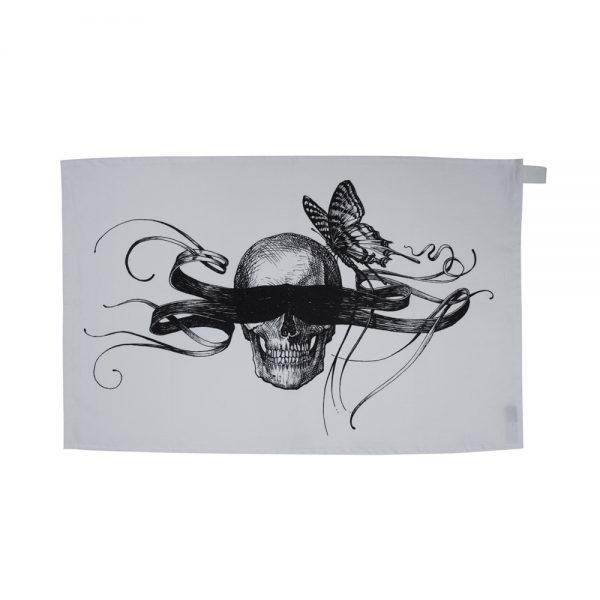 Rory Dobner masked skull tea towel