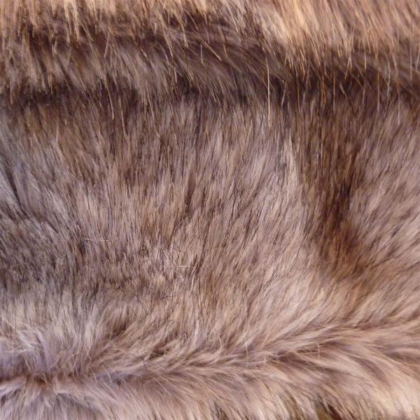 Large Faux Fur Throw Silver Grey Musquash close up
