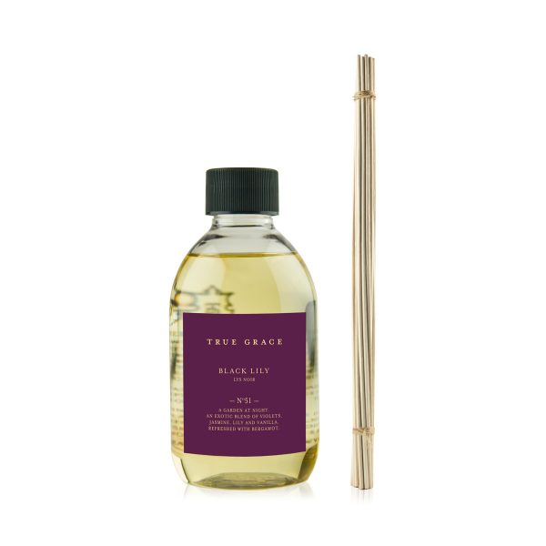 True Grace Reed Diffuser Refill Black Lily