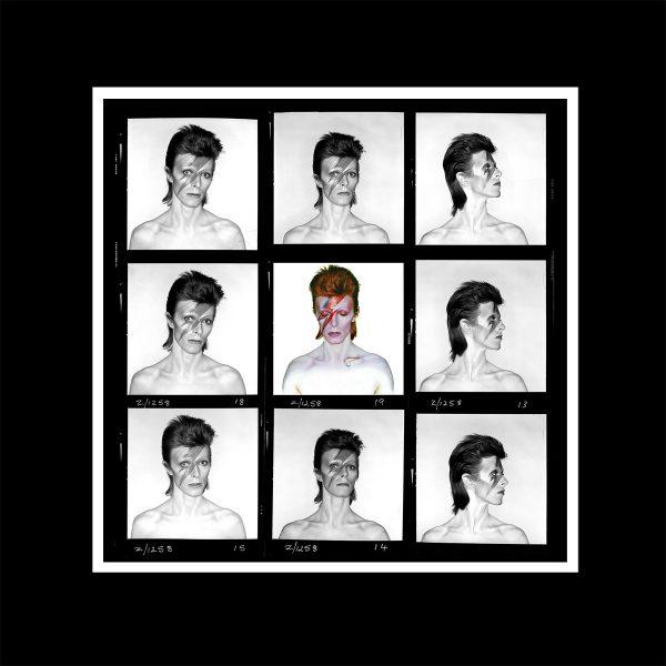 David Bowie Aladdin Sane contact sheet print