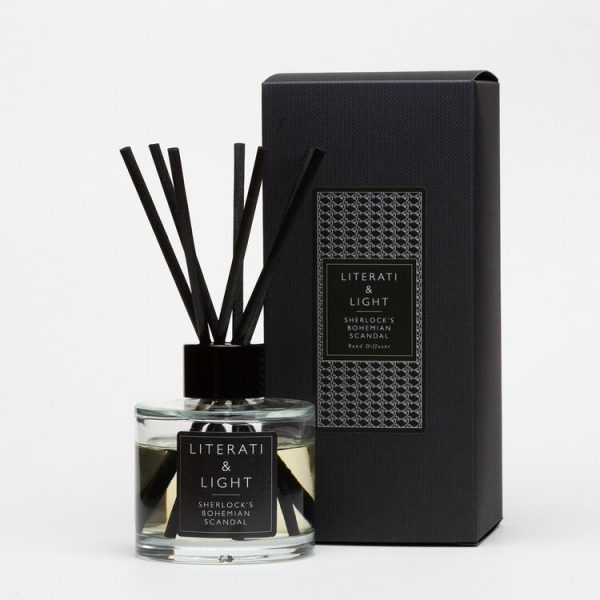 Sherlock bohemian scandal reed diffuser with box