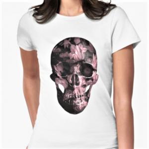 evil-left-hand-floral-skull-TSHIRT-rose-WHITE
