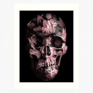 evil-left-hand-floral-skull-art-print-rose