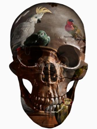 Evil Left Hand skull image