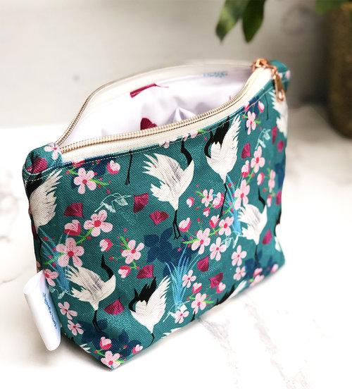 cotton zip pouch
