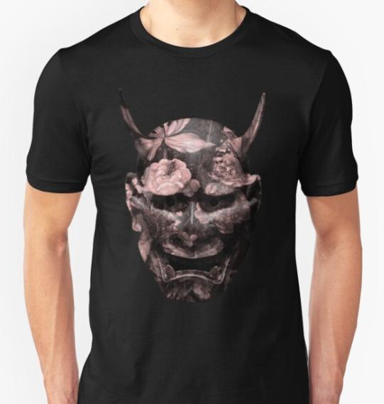 kabuki demon mask unisex t-shirt