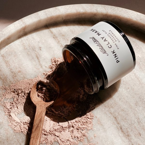 organic pink clay face mask