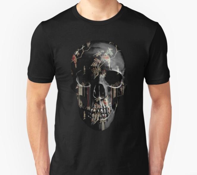 Skull t-shirt tear-garden-black