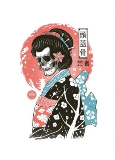 Yokai Geisha art Print