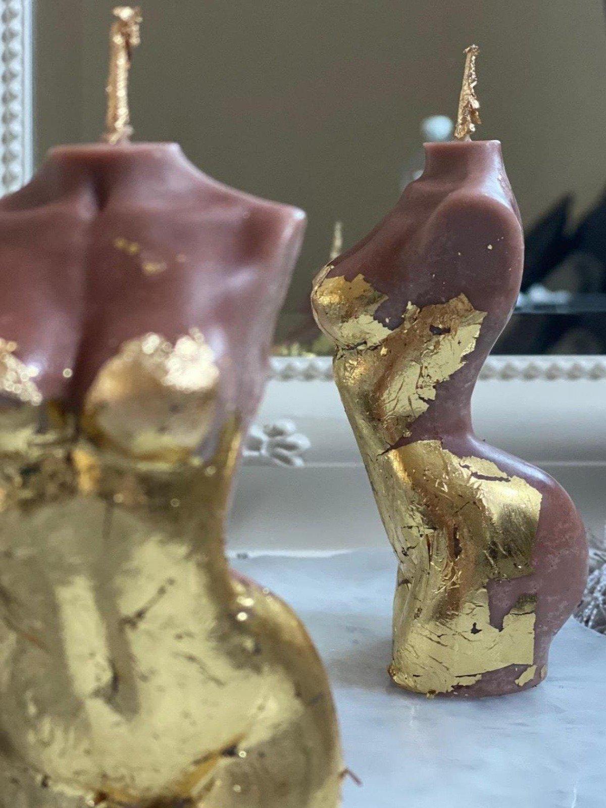 golden cocoa goddess candle