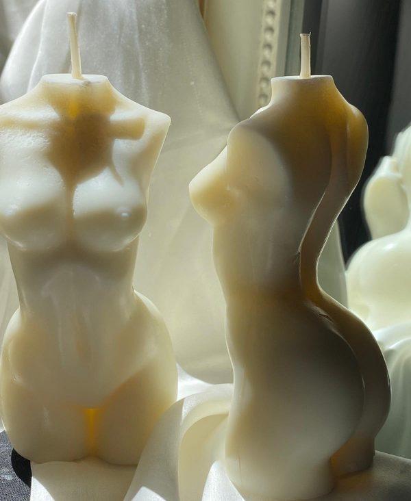 porcelain goddess candle
