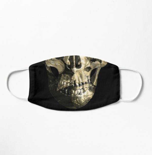 floral-skull-face-mask-pale-gold