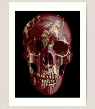 evil-left-hand-art-print-bordeaux-skull