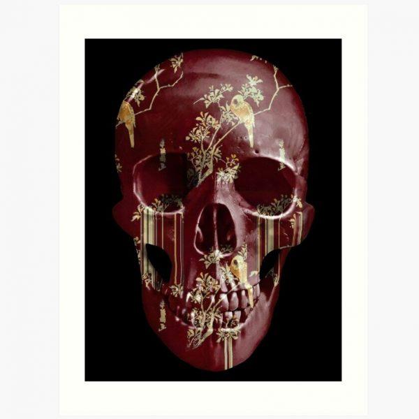 evil-left-hand-tear-garden-skull-print-bordeaux
