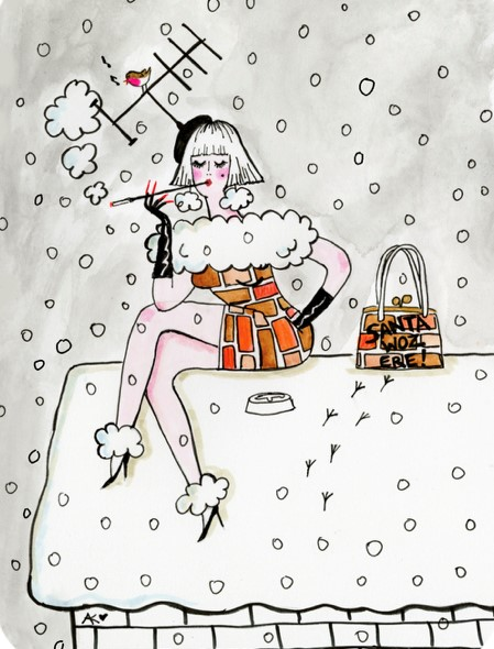 Chimney-smoke-Glittery-Christmas-Card-andrea-kett