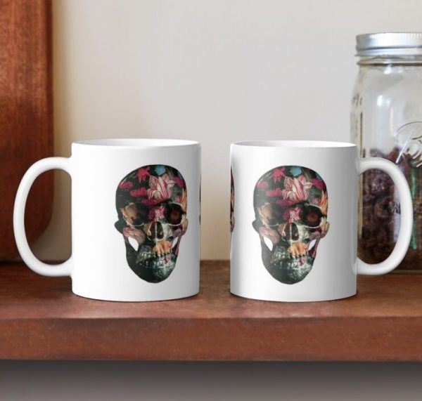 evil-left-hand-red-floral-skull-mug-pai