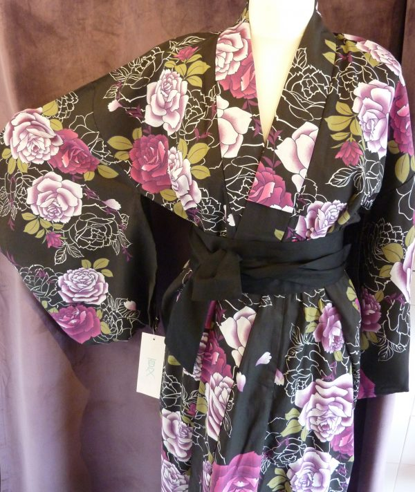 peony-rose-black-yukata-kimono