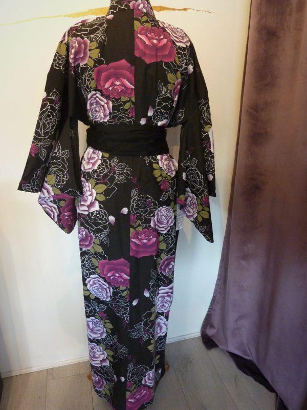 peony-rose-black-yukata-kimono-back