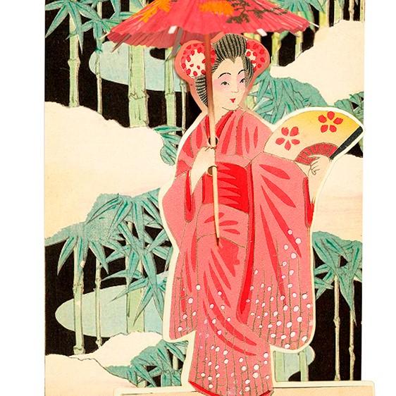 Madame-treacle-geisha-parasol-fandangle-greetings-card