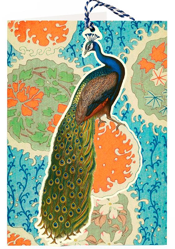 Madame-treacle-peacock-fandangle-greetings-card