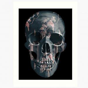 evil-left-hand-tear-garden-skull-art-print-pink